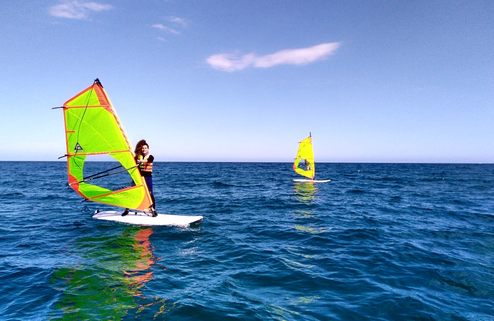 Windsurfing in Platja d'Aro
